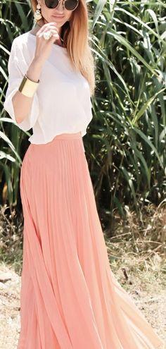 cuffs and maxi chiffon skirt