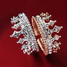 """""""2014 New Vintage Gothic Crystal Crown Adjustable Women's Ring"""""""