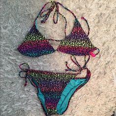Victoria's Secret bathing suit Never worn! Triangle top has no padding. Both size L Victoria's Secret Swim Bikinis