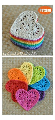 10+ Heart Coaster Free Crochet Pattern and Paid #crochet #heart #coasters #free #pattern The Heart Coaster Free Crochet Pattern makes a lovely handmade gift for Valentine's Day, and it is quick to make. You can make them in a single colour or many colors.