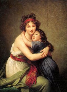 Madame Vigee Lebrun and Her Daughter, Jeanne Lucie Louise (1780 1819) 1789, a painting by Elisabeth Louise Vigee LeBrun