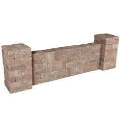 Pavestone Rumblestone 87.5 in. x 26.2 in. RumbleStone Column/Wall Kit in Greystone-RSK51634 - The Home Depot