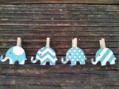 Elephant Mini Clothes Pins DIY Kit 20 Polka Dots by SweetThymes
