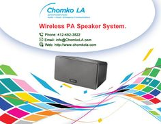 Our #wireless #PA #speaker #system eliminates the need for you to run cables to speakers. The wireless PA speaker system only needs to have traditional AC power.