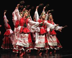 Members of the Rusalka Ukrainian dance troupe perform during their 50th anniversary gala at the Centennial Concert Hall.