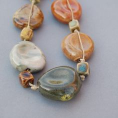 ceramic thumbprint beads