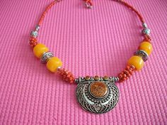 Ethnic Moroccan Berber Necklace Jewelry Tribal by BazaarSouk, $15.00