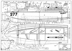 The Sup 277 is one of the model airplane plans available for download and printing.