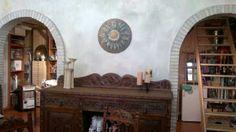 Combinación óleo con madera para decoración rústica.