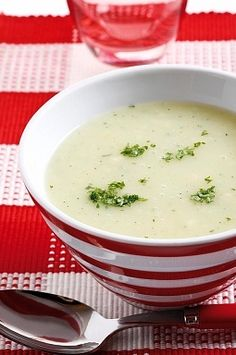 A Slimming World Potato And Leek Soup Recipe. I'd make it without the butter though.