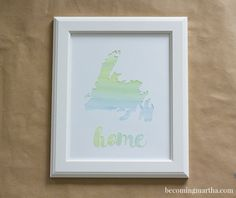 "DIY Watercolor ""Home"" Art"