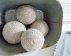 Organic wool dryer balls - {set of 6} // eco friendly // speeds drying time // no static and no chemicals