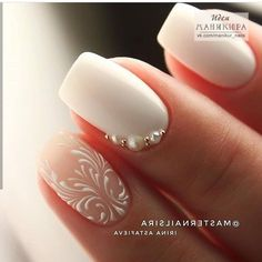 NagelDesign Elegant ( No name ) Best Picture For wedding nails dip powder For Your Taste You are looking for something, and it is going to tell you Wedding Day Nails, Wedding Nails Design, Lace Nail Design, Elegant Nails, Stylish Nails, Elegant Chic, Elegant Bridal Nails, Elegant Nail Designs, Cute Nails