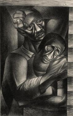 Charles White - Black Sorrow (1946) Safe Company, Works Progress Administration, Art Institute Of Chicago, New Adventures, New Words, American Art, Printmaking, Art Projects, How To Memorize Things