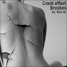 Crack Effect Photoshop Brushes
