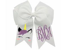 Glitter Unicorn, Unicorn Hair, Making Hair Bows, Diy Hair Bows, Bow Making, Unicorn Birthday Parties, Unicorn Party, Birthday Hair, Cheer Bows