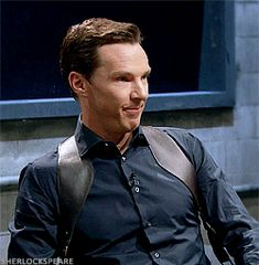 """sherlockspeare: """" Benedict trying hard not to laugh. Mad Lib Theater with Benedict Cumberbatch(X) """""""