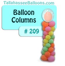 polka dot balloon column