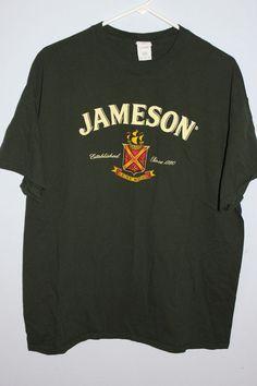 d1357e0ba9a Jameson Irish Whiskey T Shirt Size XL  Jameson  BasicTee