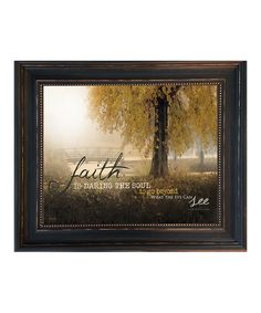 This 'Faith Is' Framed Wall Art by Karen's Art & Frame is perfect! #zulilyfinds