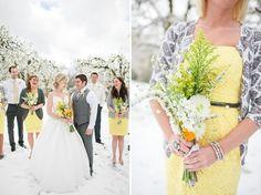 yellow winter weddings yellow-weddings