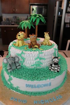 Safari baby shower cake. Cakes by Nina (Nina Mina Nana).