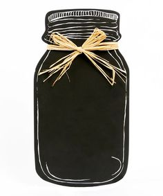 Look what I found on #zulily! Mason Jar Chalkboard #zulilyfinds