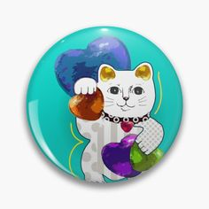 Lucky In Love, Maneki Neko, Cat Pin, Fashion Room, Order Prints, Vintage Designs, Your Favorite, My Arts, Just For You