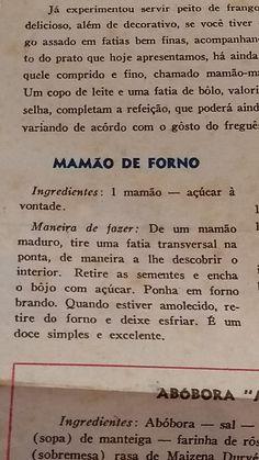 Mamão de forno