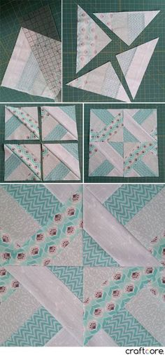 How to Make the Diagonal Slice DIamond Quilt Block - Step by Step Tutorial by Craftcore