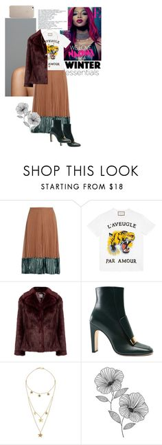 """""""VII"""" by b-campos ❤ liked on Polyvore featuring Valentino, Gucci, Sergio Rossi, Made and Wall Pops!"""