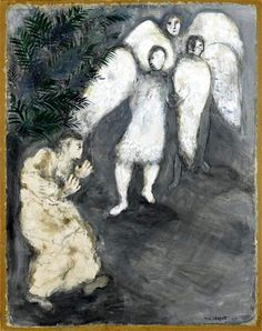 Marc Chagall, Abraham and the Three Angels, 1931