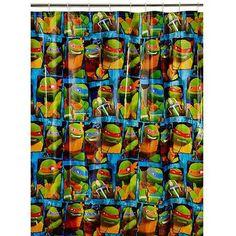 Superb Nickelodeon Teenage Mutant Ninja Turtles Shower Curtain
