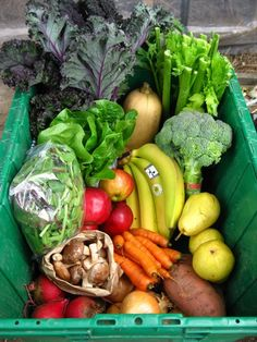 As summer must. Box of organic food from a local farm.  #eco #home #sustainable