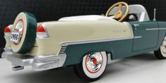 1955 Chevy Pedal Car Vintage BelAir Hot Rod Sport Rare Midget Metal Model Art