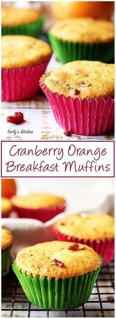 A straightforward, quick cranberry orange breakfast muffins recipe that's crumbly, moist, and jam packed with tart dried cranberries and zesty orange juice. via @berlyskitchen