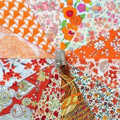 Freshly squeezed Liberty's hardest-to-find colour! Limited edition charm square packs now in my Etsy store (LibertyCharms) #libertylawn #libertygram #libertyfabric #libertyprints #libertypatchwork #libertyquilt #orange - Thanks to sweet_liberty_life via instgram.