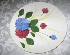 Cottage Chic Vintage Southern Galleries Blue Ridge Chrysanthemum Serving Plate or Platter, Hand Painted and Underglazed Love Blue, Serving Plates, Chrysanthemum, Blue Ridge, Company Names, Cottage Chic, Platter, Etsy Vintage, Galleries