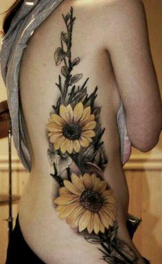 Sun flower tat