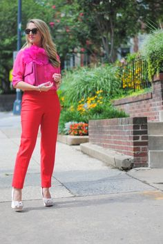 The @White House Black Market Red City Pant (& Giveaway)...