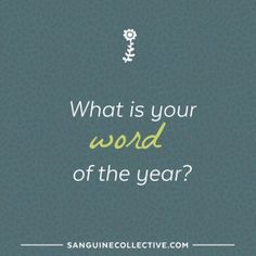 what is your word of the year