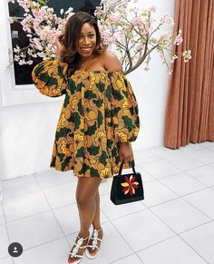 The complete pictures of latest ankara short gown styles of 2018 you've been searching for. These short ankara gown styles of 2018 are beautiful Short Ankara Dresses, Ankara Gown Styles, Short Gowns, African Print Dresses, African Dresses For Women, African Wear, African Attire, Ankara Tops, African Prints