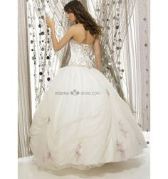 HOLLY - Quinceanera dresses Prom dresses Ball gown Floor length Organza Beaded Strapless Occasion dress