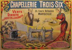 1900 Original French Poster, Chapellerie Trois-Six - #rabbit