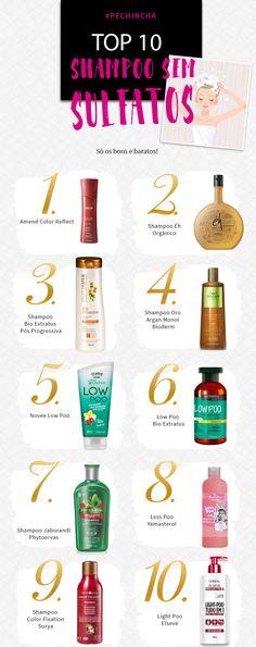 Qual o melhor shampoo sem sulfatos? Mostrei 10 shampoos sem sulfatos que são bons e baratos e indicados para todos os tipos de cabelos!
