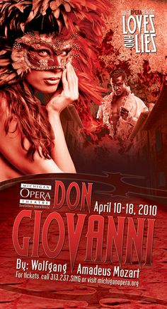 Don Giovanni, Mozart - Opera poster / Michigan Opera Theatre