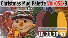 Christmas Mug Color Palette by Polymer Clay Tutor