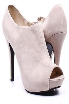 every girl must have a pair of cute open toe booties ! perfect for dresses and skinny jeans - so meeee