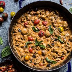 Simple Almond Chicken, Chickpea and Eggplant Curry. Simple and delicious recipe which tastes well with steamed rice or egg noodles.