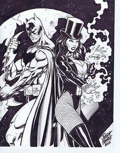 Batman & Zatanna by Joseph Mackie Comic Art